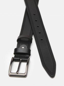 Мужской кожаный ремень Laras Cvgnn13-125 125 см Черный (ROZ6400018300)
