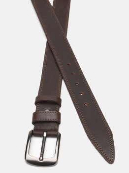Мужской кожаный ремень Laras Cvgnn4a-125 125 см Коричневый (ROZ6400018288)