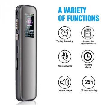 Профессиональный цифровой диктофон с активацией записи голосом Savetek GS-R60, 16 Гб памяти, поддержка SD карт памяти, Оригинал (100641)