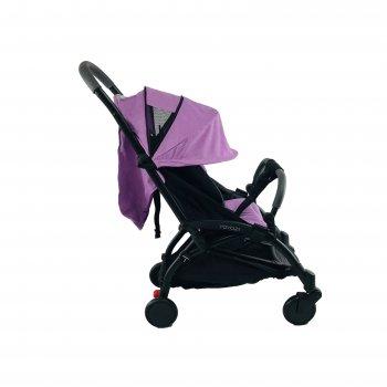 Коляска Yoya 175 А+ 2021 с Большим дождевиком Фиолетовая на черной раме с люлькой Фиолетовой