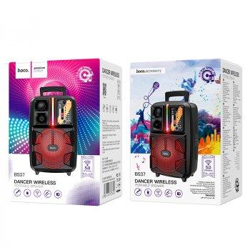 Акустика - караоке HOCO Dancer outdoor wireless speaker BS37 |3Hours, BT5.0, TWS, AUX/FM/USB| з мікрофоном Black