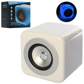 Колонка Metr+ Mini BoomBox Білий 12-12-12 см, bluetooth SG-1741B