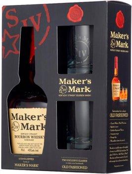 Виски Maker's Mark 0.7 л 45% + 2 стакана (5060045587848)