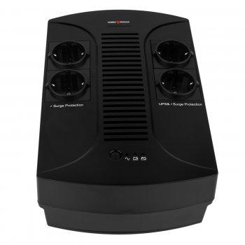 ИБП LogicPower 650VA-PS, Lin.int., AVR, 4 x євро, пластик