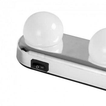 Подсветка лампа на зеркало беспроводной светильник для макияжа Studio Glow 4 Led