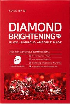 Осветляющая ампульная маска с алмазной пудрой Some By Mi Diamond Brightening Calming Glow Luminous Ampoule Mask 25 г (8809647390060)