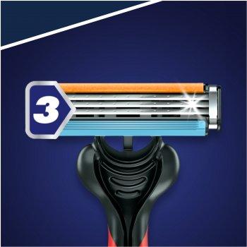 Одноразовые станки для бритья (Бритвы) мужские Gillette Blue 3 Red Nitro 6 шт (7702018516759)