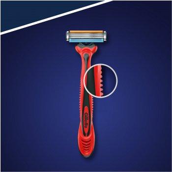 Одноразовые станки для бритья (Бритвы) мужские Gillette Blue 3 Red Nitro 3 шт (7702018516780)