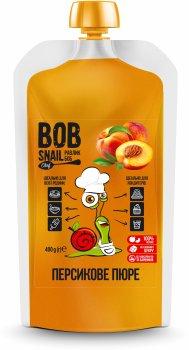 Натуральне персикове пюре Bob Snail 400 г (4820219342823)