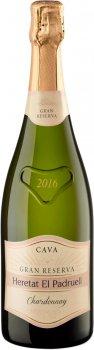 Вино ігристе Heretat el Padruell Cava Гран Резерва Шардоне біле брют 0.75 л 12% (8411277207412)