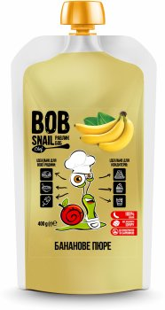 Натуральне бананове пюре Bob Snail 400 г (4820219343189)