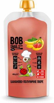 Натуральне бананово-полуничне пюре Bob Snail 400 г (4820219343066)