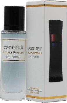 Парфюмированная вода для мужчин Мораль Парфюм Code Blue версия Giorgio Armani Code 30 мл (3809556496216)
