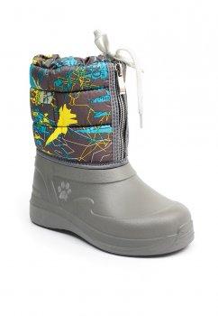 Дитячі чобітки для дівчаток Kredo 19-д-26 Сіро-коричневий