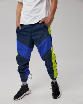 Спортивные штаны Пушка Огонь Split сине-салатовые