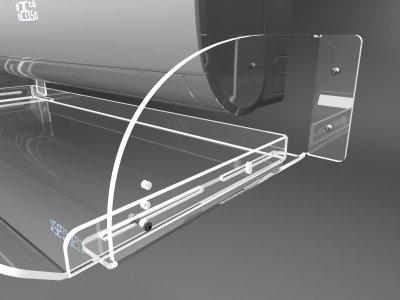 Повітряний екран (дефлектор) кондиціонера шириною 1000мм з акрилу Ташута (38-10020-07)