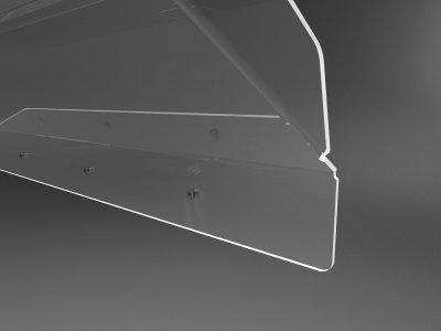 Екран на кондиціонер з акрилу шириною 850мм настінний (дефлектор) Ташута (38-10080-04)