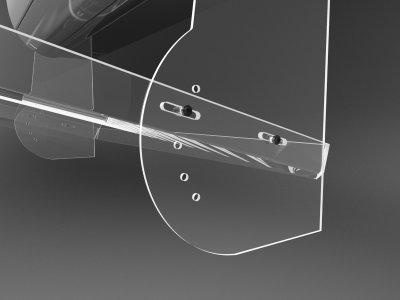 Екран кондиціонера з оргскла шириною 800мм без свердління стіни Ташута (38-10050-03)