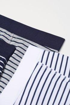 Труси-шорти H&M 564314 3 шт. Сірі/Білі/Сині