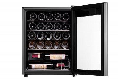 Винный шкаф Ardesto WCF-M24 64 см/24 бутылки/А/темп. 5-18С/Led-подсветка/сенсор. дисплей/черный