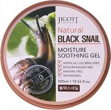 Гель для лица и тела Jigott Natural Black Snail Moisture Soothing Gel с экстрактом муцина черной улитки 300 мл (8809541280733)