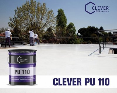Однокомпонентна поліуретанова гідроізоляція Clever Polymers PU BASE 110 сіра 25 кг.