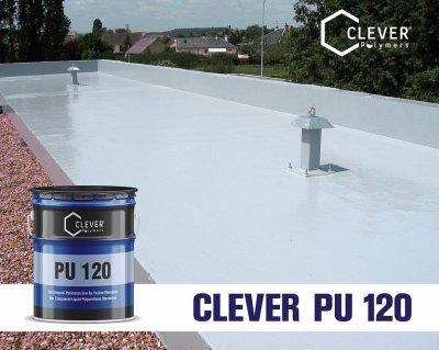 Однокомпонентна поліуретанова гідроізоляція Clever Polymers PU BASE 120 сіра 25 кг.