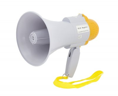 Мегафон рупор гучномовець Спартак RD-8S дальність 200 м White (001196)