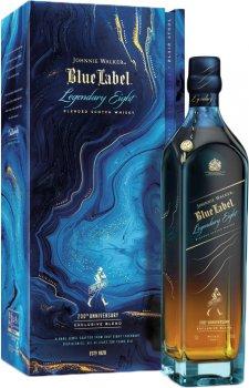 Виски Johnnie Walker Blue label выдержка 25 лет 0.7 л 40% в подарочной упаковке LEGENDARY EIGHT (5000267180564)