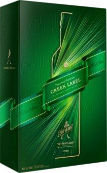 Виски Johnnie Walker Green label 15 лет выдержки 0.7 л 43% в подарочной упаковке с 2-мя стаканами (5000267180700)