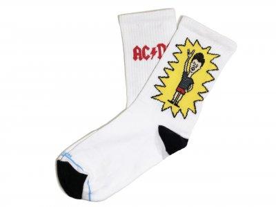Мужские носки LOMM Premium AC/DC Butt-head серые
