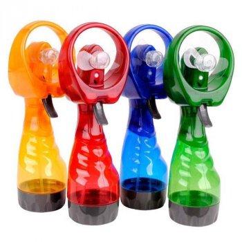 Вентилятор з розпилювачем води, Water Spray Fan, на батарейках, колір - зелений (1002865-Green-0)