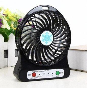 Настільний маленький вентилятор Portable Fan чорний, портативний usb вентилятор на батарейках (1002445-Black-1)