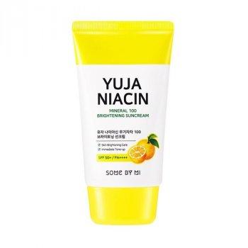 Осветляющий солнцезащитный крем Some By Mi Yuja Niacin Mineral 100 Brightening Sunscreen (8809647390862)