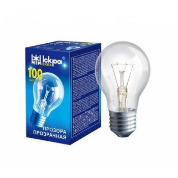 Лампа розжарювання 100W Іскра E27 прозора
