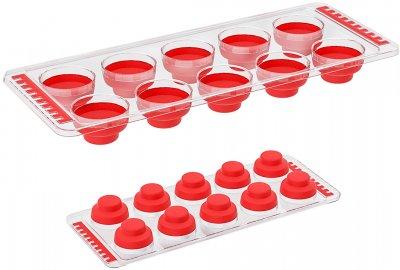 Форма для льда Irak Plastik силиконовая Красная (10243kmd)