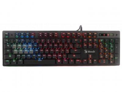 Клавіатура A4Tech Bloody B500N, USB, ігрова, мультимедійна, Меха-like (гібридні) світчі, 5-з