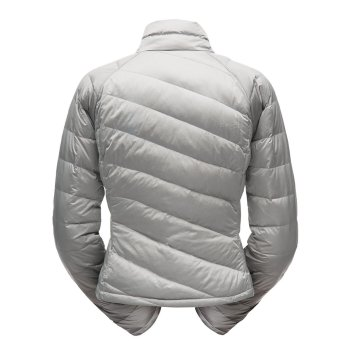 Куртка женская Spyder Solitude Crop Down пуховая короткая серая (182388)