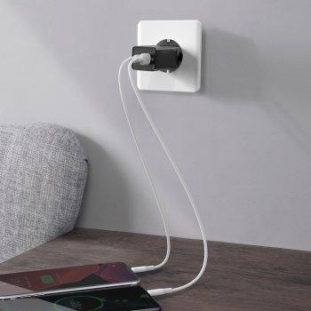 Мережевий зарядний пристрій Baseus Quick GaN Travel QC4.0+PD3.0 65W USB+2Type-C 5A Чорний