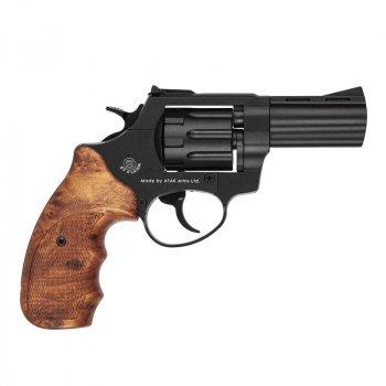 """Револьвер под патрон Флобера Stalker S (3"""", 4.0мм), черный-коричневый"""