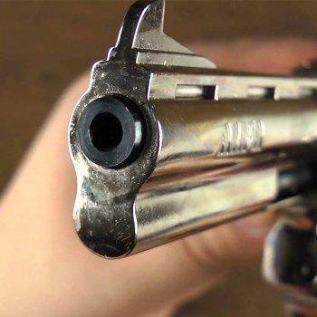 """Револьвер під патрон Флобера Alfa 441 (4.0"""", 4.0 мм), нікель-дерево"""