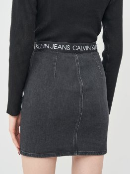 Джинсовая юбка Calvin Klein Jeans Dart Skirt J20J214580-1BY Denim Black