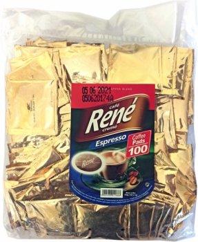 Кофе молотый в чалдах Rene Espresso 100 шт (5902480011666) для кофемашин Philips Senseo
