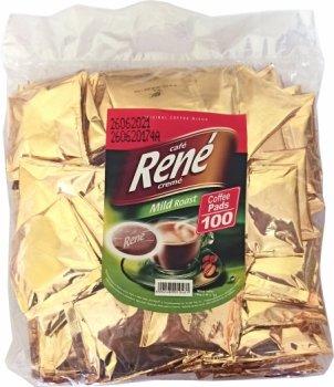 Кофе молотый в чалдах Rene Mild 100 шт (5902480010461) для кофемашин Philips Senseo
