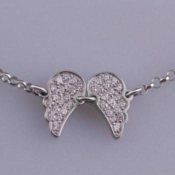 Срібний браслет крила янгола 16 cava.cool