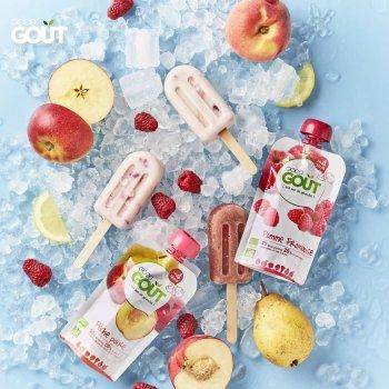 Дитяче фруктове пюре Good Gout Полуниця-Банан 90 г х 4 шт. (3760269311282)