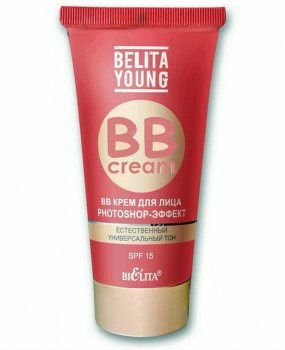 Belita Young - ВВ Крем для лица Photoshop эффект для молодой кожи Естественный универсальный тон SPF 15 30 мл (4899151020590)