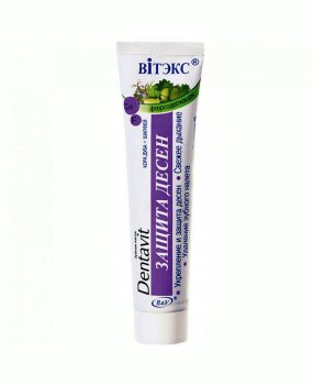 Зубная паста для укрепления десен Dentavit Витекс Дентавит Кора дуба и шалфей Защита десен 160 г (4899153011251)