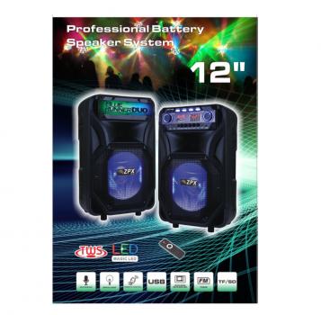 Портативна акустична система колонки ZPX ZX8899 на акумуляторі USB Bluetooth FM 2*120 Вт