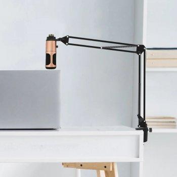 Конденсаторный USB Микрофон студийный VGS M-900 USB PRO-MIC Bronze со стойкой и поп-фильтром, подключение USB